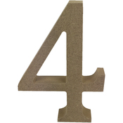 Serif Number 4 - Smooth MDF Blank Shape