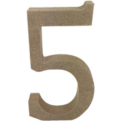Serif Number 5 - Smooth MDF Blank Shape
