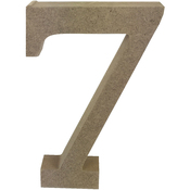 Serif Number 7 - Smooth MDF Blank Shape