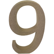 Serif Number 9 - Smooth MDF Blank Shape