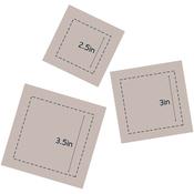 """Square 2.5"""", 3"""" & 3.5"""" - Couture Creations Quilt Essentials Quilting Die"""