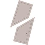 "Trapezoid 4"" - Couture Creations Quilt Essentials Quilting Die"