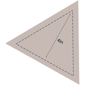 "Equilateral Triangle 4"" - Couture Creations Quilt Essentials Quilting Die"