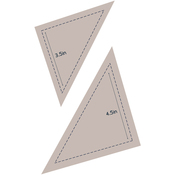 "Half Square Triangle 3.5"" & 4.5"" - Couture Creations Quilt Essentials Quilting Die"