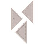 """Quarter Square Triangle 3"""" - Couture Creations Quilt Essentials Quilting Die"""