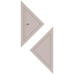 """Quarter Square Triangle 4"""" - Couture Creations Quilt Essentials Quilting Die"""