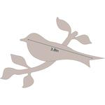 "Bird On A Branch - Applique 4.7""X3.2"" - Couture Creations Quilt Essentials Quilting Die"