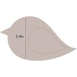 "Bird 2 - Applique 4.1""X2.4"" - Couture Creations Quilt Essentials Quilting Die"