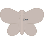 """Butterfly 2 - Applique 4.2""""X2.7"""" - Couture Creations Quilt Essentials Quilting Die"""