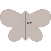 "Butterfly 2 - Applique 4.2""X2.7"" - Couture Creations Quilt Essentials Quilting Die"