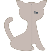 "Cat - Applique 3.3""X4"" - Couture Creations Quilt Essentials Quilting Die"