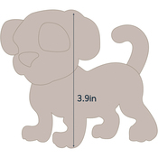 "Dog 1 - Applique 4.4""X3.9"" - Couture Creations Quilt Essentials Quilting Die"