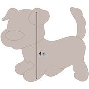 "Dog 2 - Applique 4.7""X4"" - Couture Creations Quilt Essentials Quilting Die"