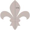 """Fleur De Lis - Applique 3.7""""X4"""" - Couture Creations Quilt Essentials Quilting Die"""