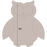 "Owl - Applique 3.6""X4"" - Couture Creations Quilt Essentials Quilting Die"