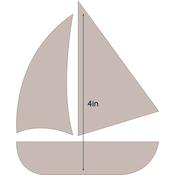 """Sailboat - Applique 3.2""""X4"""" - Couture Creations Quilt Essentials Quilting Die"""
