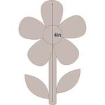 "Simple Flower 2 - Applique 2.8""X4"" - Couture Creations Quilt Essentials Quilting Die"