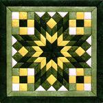 "12""X12"" - Diamond Star Quilt Magic Kit"