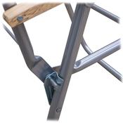 Steel Wood Arm High Back Chair Frame