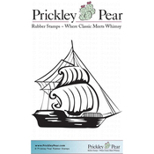 "Vintage Ship - Prickley Pear Cling Stamps 1.5""X1.5"""