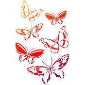"Butterfly Swarm - Viva Decor Universal Stencil 8.27""X11.69"""