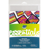 "Assorted Clear & Sanded - Grafix Essential Shrink Film 5.5""X8.5"" 4/Pkg"