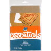"""Natural .057"""" - Grafix Essentials Natural Chipboard 5.5""""x8.5"""" 4/Pkg"""