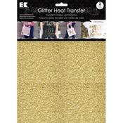 "Gold - Glitter Heat Transfer 8.5""X11"" 2/Pkg"