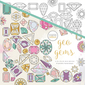 "Geo Gems - KaiserColour Perfect Bound Coloring Book 9.75""X9.75"""