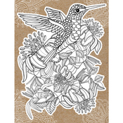 "Hummingbird - Diecut Coloring Card W/5.25""X7.25"" Envelope"