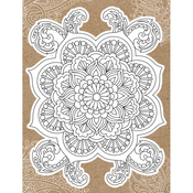 "Mandala - Diecut Coloring Card W/5.25""X7.25"" Envelope"