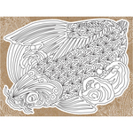 "Koi - Diecut Coloring Card W/5.25""X7.25"" Envelope"