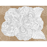 "Hibiscus - Diecut Coloring Card W/5.25""X7.25"" Envelope"