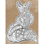 "Fox - Diecut Coloring Card W/5.25""X7.25"" Envelope"