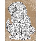 "Puppy - Diecut Coloring Card W/5.25""X7.25"" Envelope"