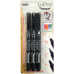 Black - Le Pen Extra Fine, Fine, & Bold Points 3/Pkg