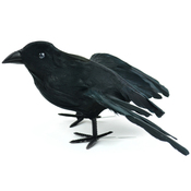 "Standing Crow - Mushroom Bird W/Wire 7"""