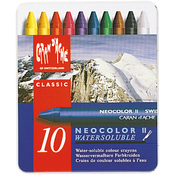 Caran d'Ache NeoColor 2 Water Soluble Wax Pastel Set 10/Pkg