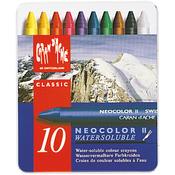 Caran d'Ache NeoColor 2 Water Soluble Wax Pastel Set 10/Pkg