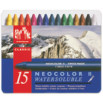 Caran d'Ache NeoColor 2 Water Soluble Wax Pastel Set 15/Pkg