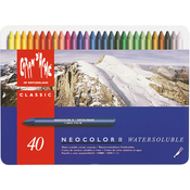 Caran d'Ache NeoColor 2 Water Soluble Wax Pastel Set 40/Pkg
