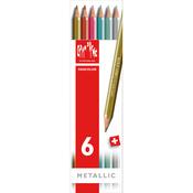Caran d/Ache Fancolor Metallic Water Soluble Pencils 6/Pkg