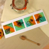 "Wishes On Wings/Honeybees & Ladybugs - Hunkydory Stylish Silhouettes 6""X6"""