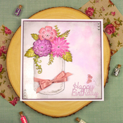 """Wishes On Wings/Trailing Leaves - Hunkydory Stylish Silhouettes 6""""X6"""""""