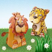 Leo The Lion/Charlie The Cheetah - Box Pops On Safari A4 2/Pkg