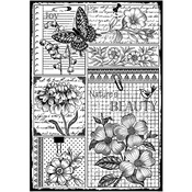 """Nature's Beauty - Crafty Individuals Unmounted Rubber Stamp 4.75""""X7"""" Pkg"""