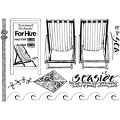 """By The Sea - Crafty Individuals Unmounted Rubber Stamp 4.75""""X7"""" Pkg"""
