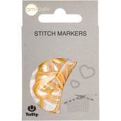 Heart/Yellow/Xl - Tulip Stitch Markers 7/Pkg