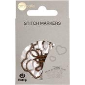 Heart/Brown/Xl - Tulip Stitch Markers 7/Pkg