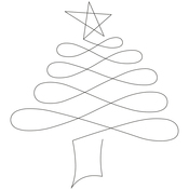 """Christmas Tree 7"""" - Quilt Stencils By Patricia Ritter"""